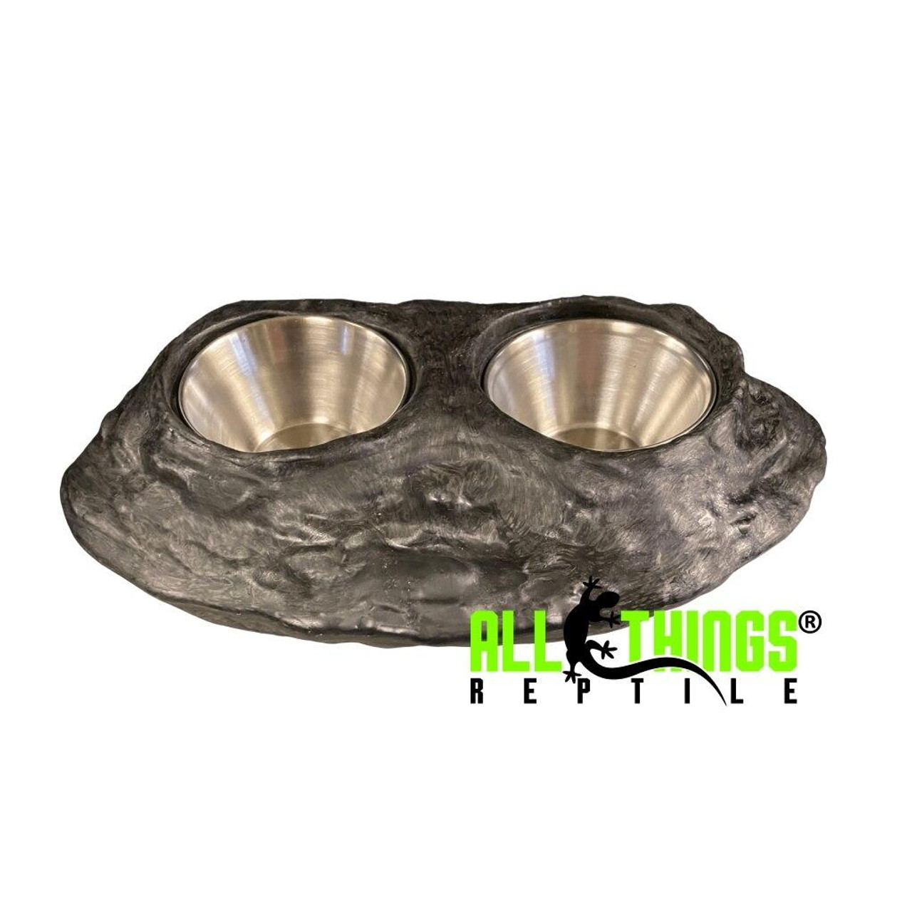All Things Reptile ATR Stainless Steel Feeding/Food Water Cup/Dish 1.5oz