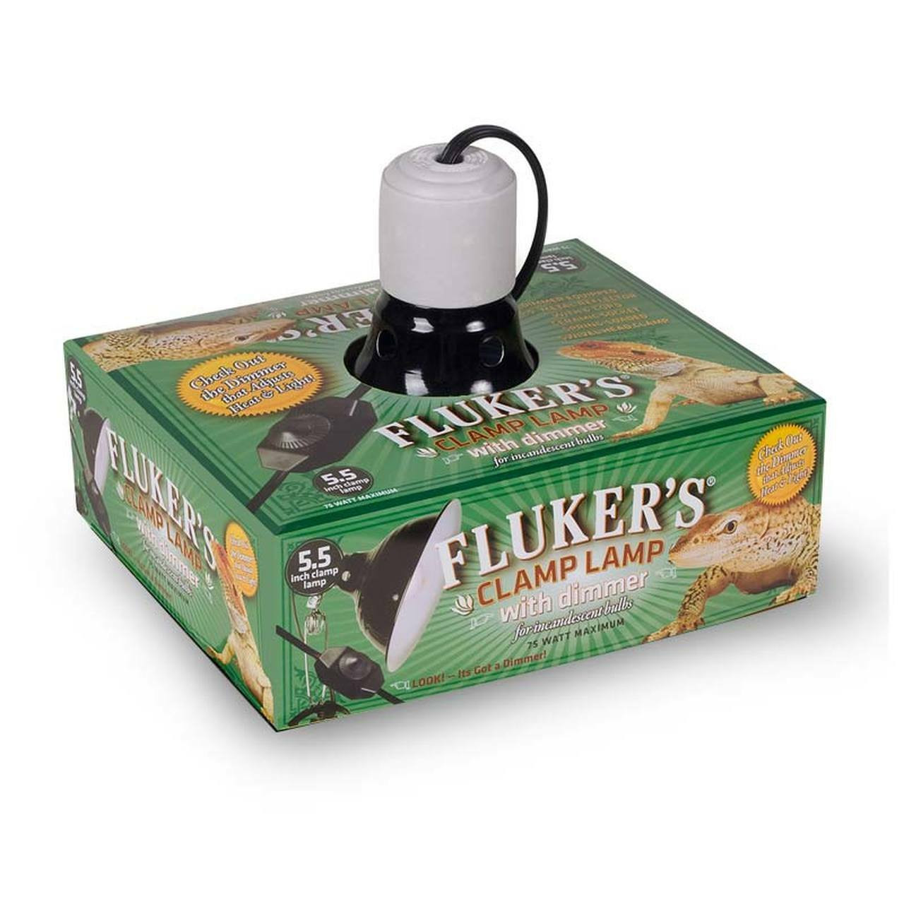 Flukers Flukers Repta-Clamp Ceramic Reflector Dome with Dimmer Switch 5.5