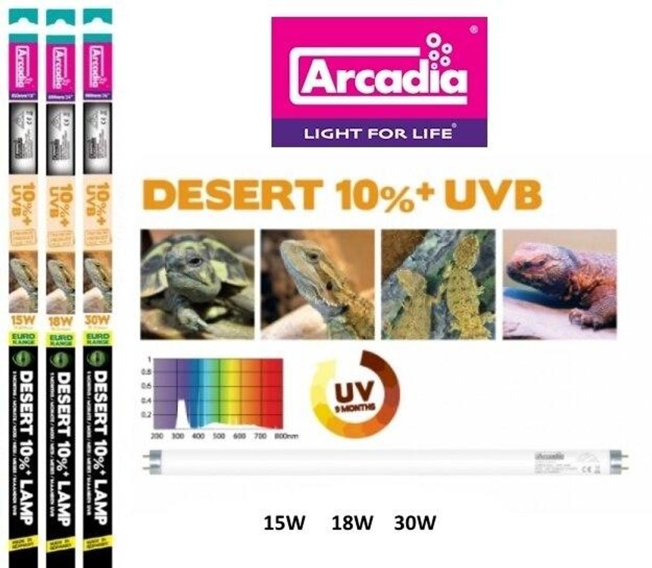 Arcadia ARCADIA T8 D3 UVB DESERT 10percent 18W 24
