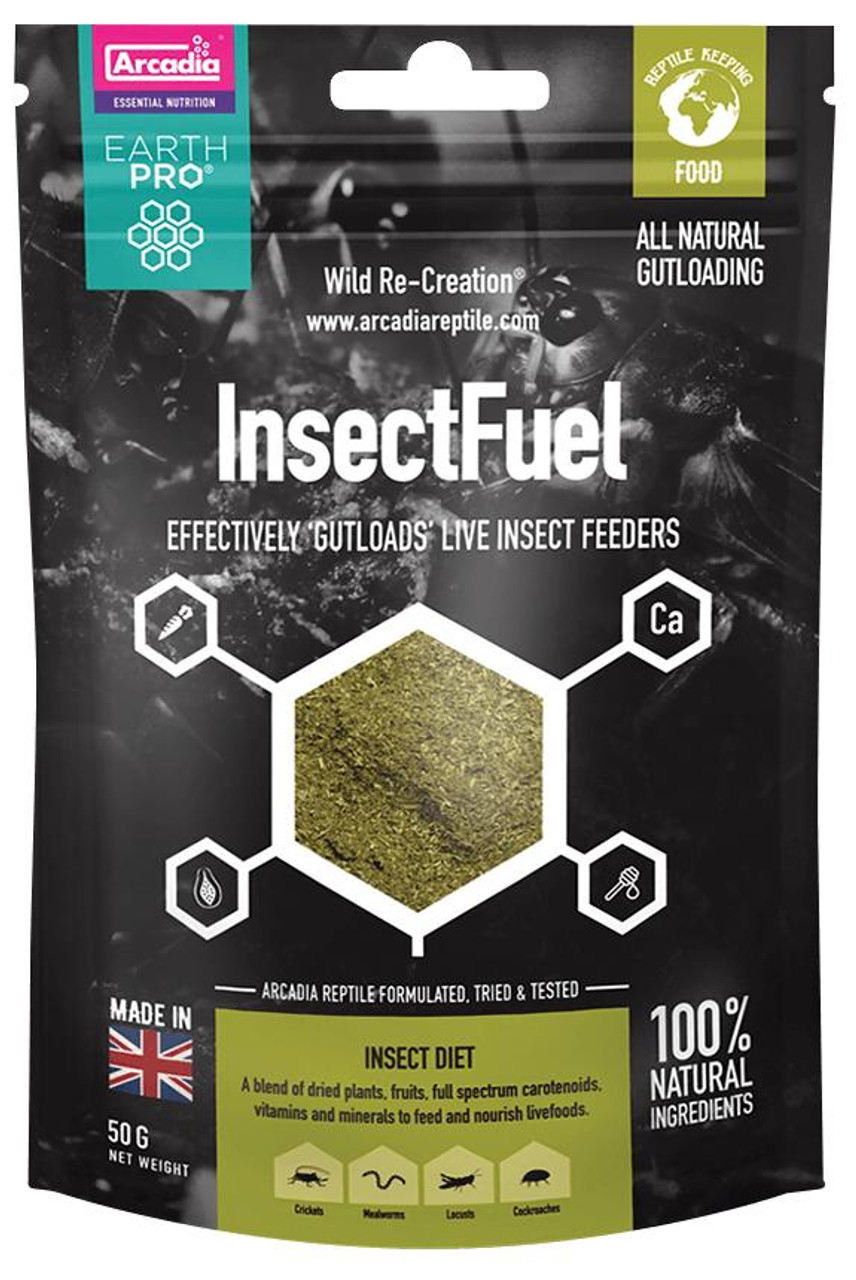 Arcadia Arcadia EarthPro InsectFuel Insect feed 50g See Note about best before date