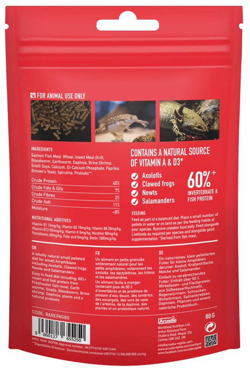 Arcadia Arcadia EarthPro-Amphibigold 300g See Note about best before date