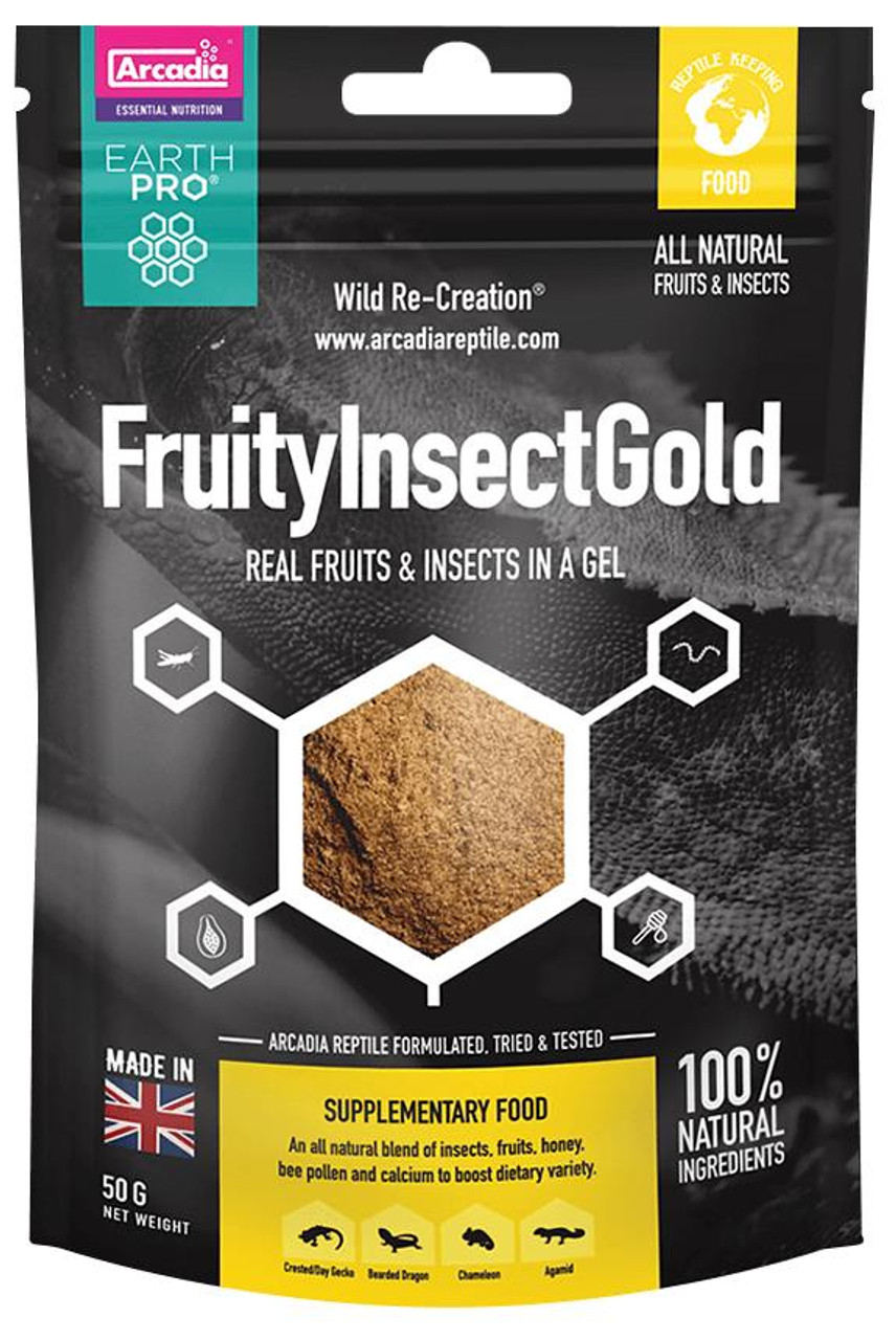 Arcadia Arcadia EarthPro Fruity Insect Gold 50g See Note about best before date