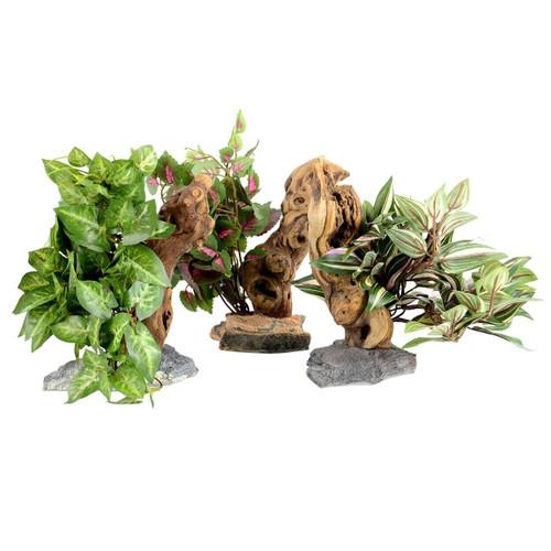 Pet Tekk Habi-Scape Tropical Plant on Driftwood