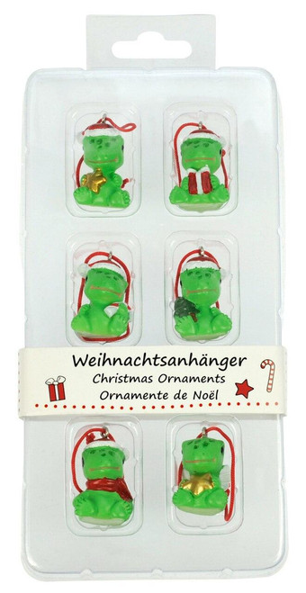 All Things Reptile Christmas Ornaments Geckos Set of 6