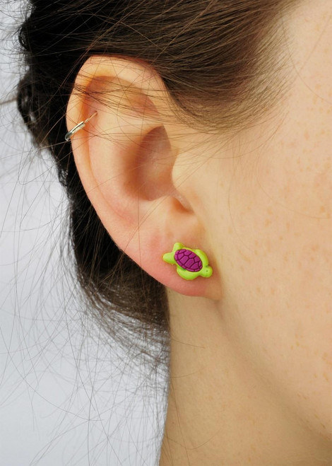 All Things Reptile Soft PVC Earstuds Turtle