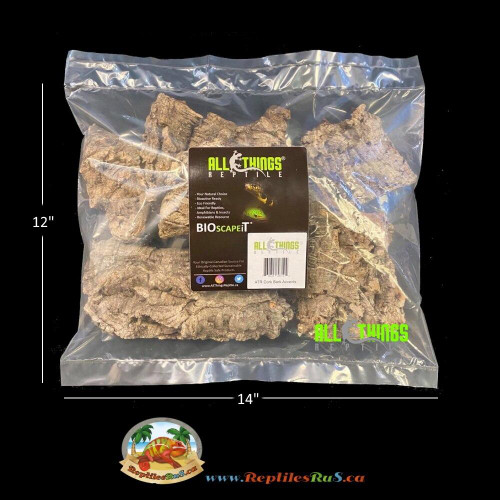 All Things Reptile ATR Cork Bark Accent approx 1Lb