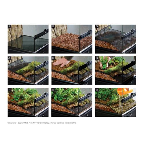 Exo Terra Exo Terra BioDrain Terrarium Draining Mesh - 20 x 20 cm 8 x 8 in
