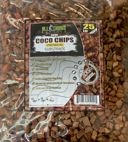 All Things Reptile Coco Husk Big Chips Loose in Bag 25L