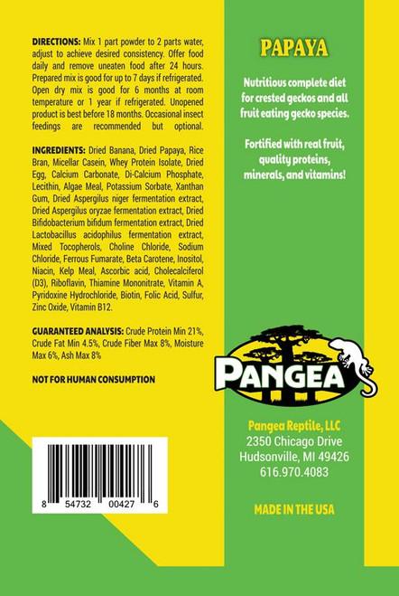 Pangea Pangea Fruit Mix with Papaya Complete Gecko Diet 64oz