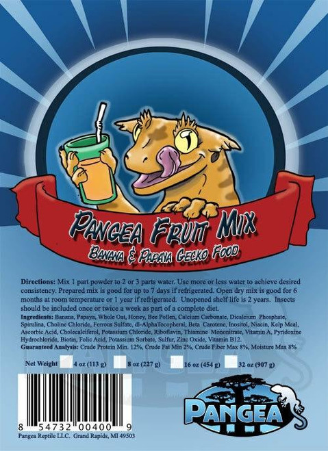 Pangea Pangea Fruit Mix Banana/Papaya GECKO TREAT 2oz