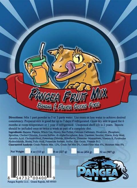 Pangea Pangea Fruit Mix Banana/Papaya GECKO TREAT 8oz