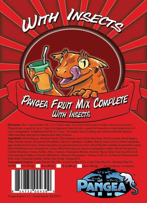 Pangea Pangea Fruit Mix with Insects Complete Gecko Diet 64oz
