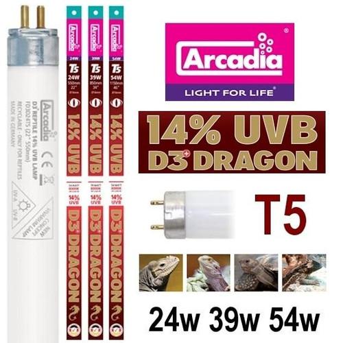 Arcadia Arcadia T5 HO Dragon Lamp 14percent UVB 24w 22