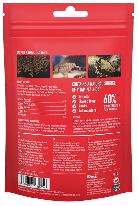 Arcadia Arcadia EarthPro-Amphibigold 80g See Note about best before date