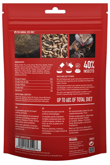Arcadia Arcadia EarthPro-Insectigold 300g 10.58oz See Note about best before date