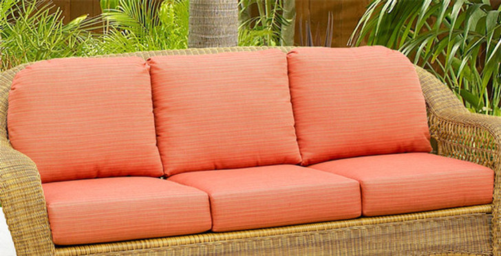Replacement Cushions for NorthCape International Wicker Deep Seating Sofa