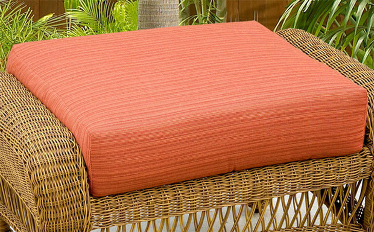 Replacement Cushions for NorthCape International Wicker Deep Seating Ottoman
