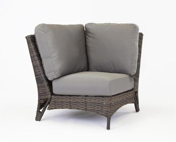 South Sea Rattan Panama Wicker Square Corner Sectional Chair