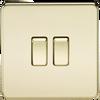 Screwless 10A 2G 2-Way Switch - Polished Brass (DFL1SF3000PB)