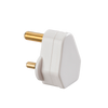 5A ROUND PIN PLUG TOP - WHITE (DFL1SN135A)