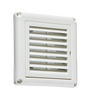 """100MM/4"""" Extractor Fan Grille with Fly Screen - White (DFL1EX009W)"""