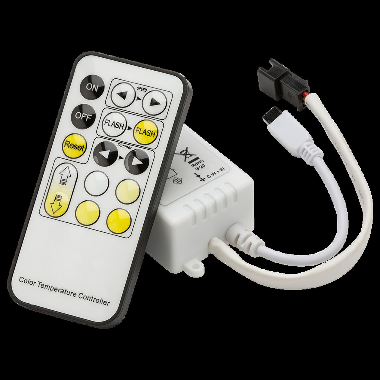 12V / 24V IR Controller and Remote - CCT (DFL1LEDFR2 )