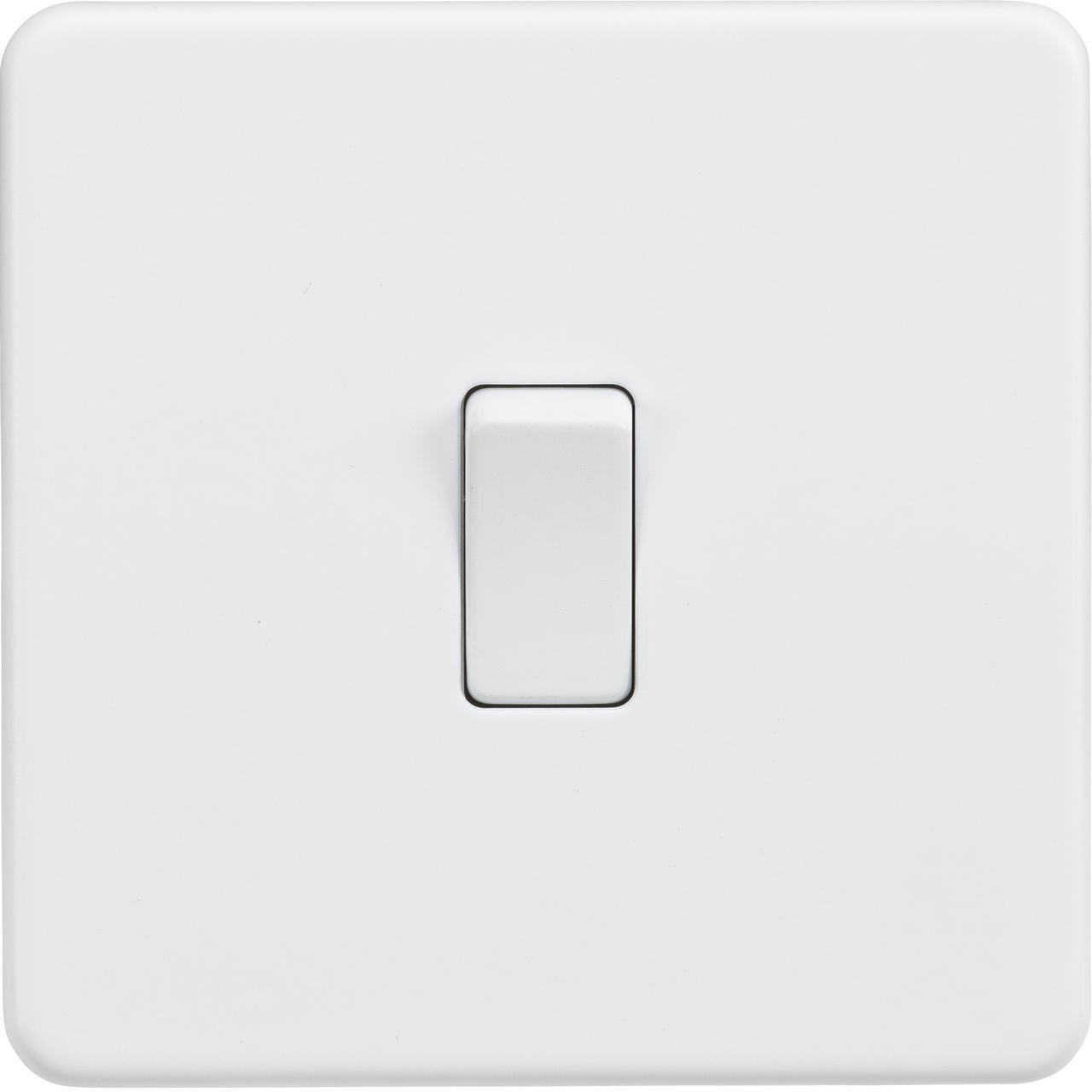 Screwless 10A 1G 2-Way Switch - Matt White (DFL1SF2000MW)