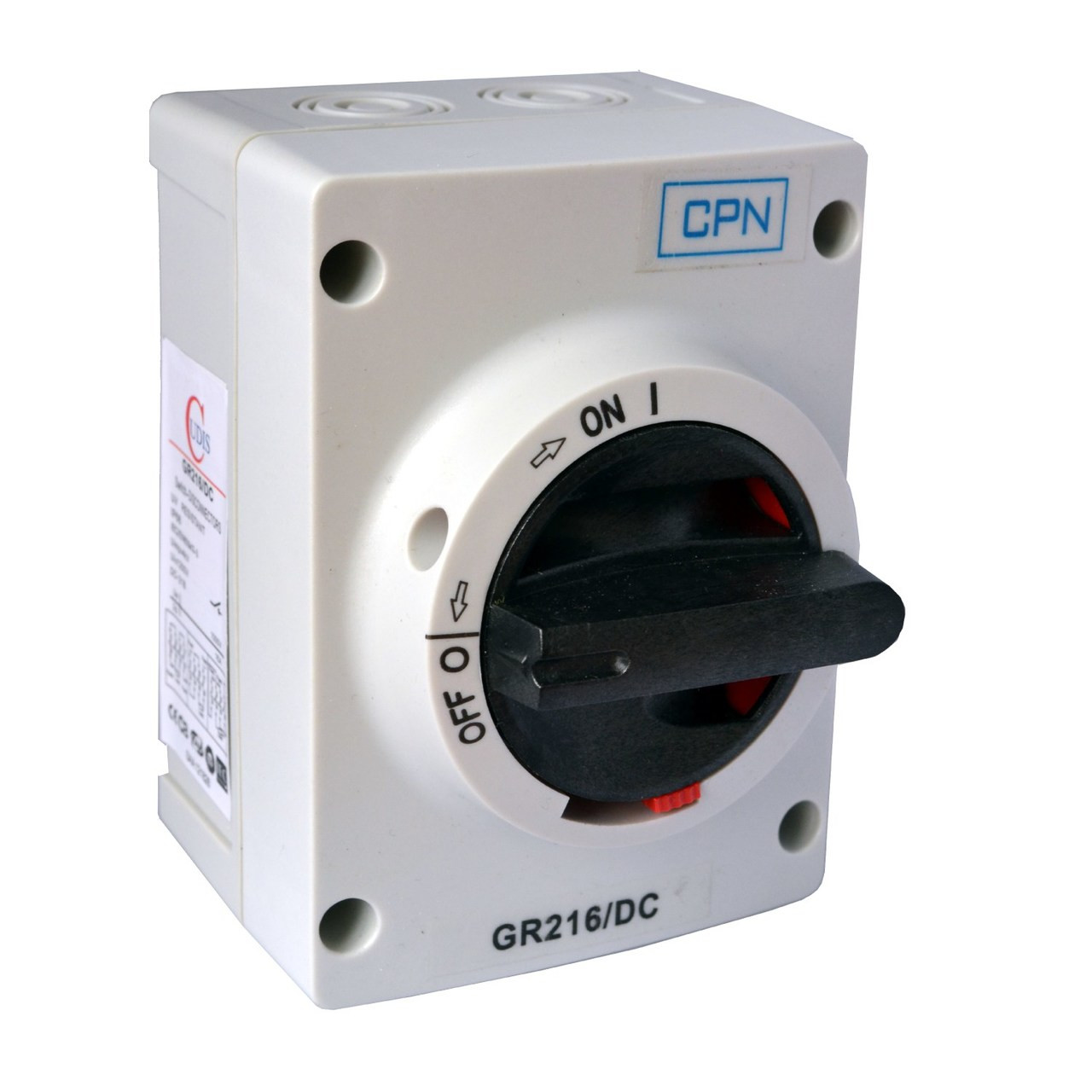 16A 2P DC Isolator Enclosed (DFL3GR216DC)