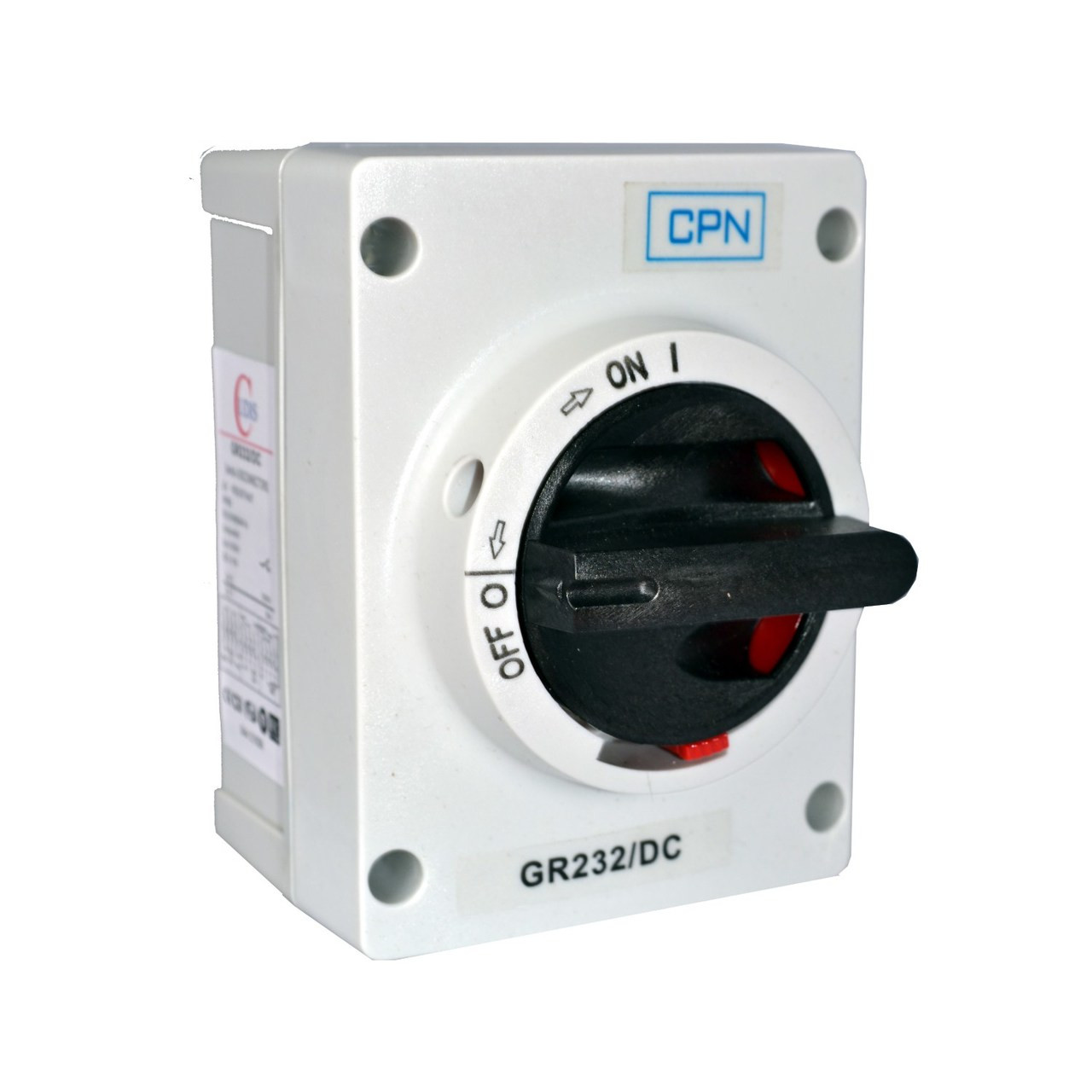 32A 2P DC Isolator Enclosed (DFL3GR232DC)