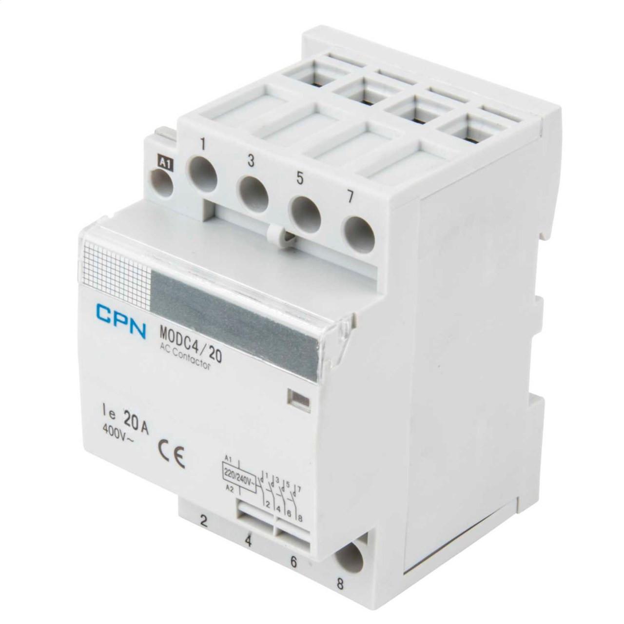 4P 20A 3 Modular Contactor (DFL3MODC420)