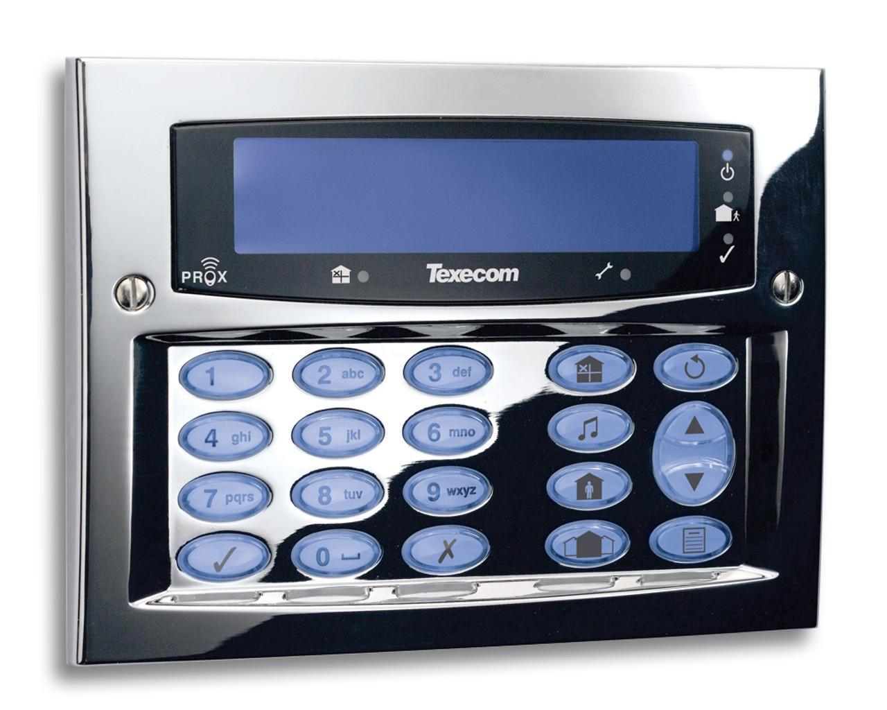 Texecom Premier Elite Flush Mount Keypad Polished Chrome