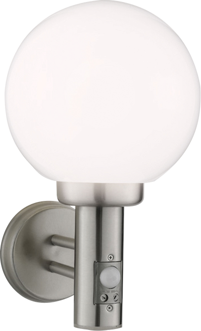 IP44 230V E27 60W Stainless Steel Wall Globe comes with Sensor
