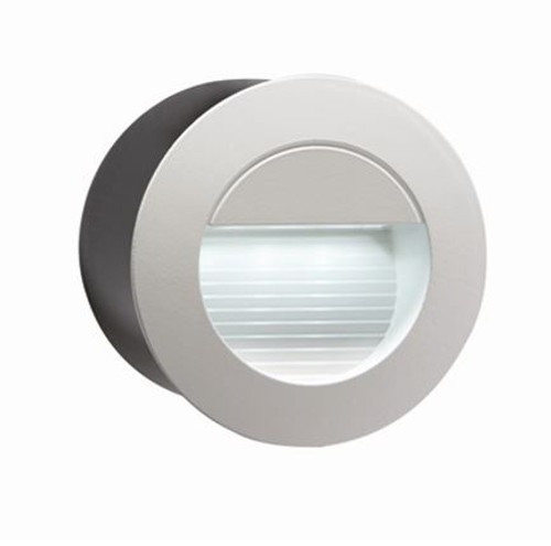 230V IP54 Recessed Round Indoor Outdoor LED Guide Stair Wall Light White LED