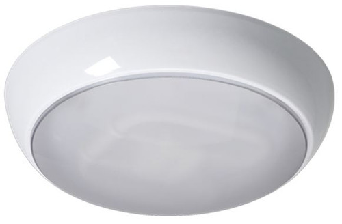 IP44 28W Polo Prismatic Diffuser, White Base -Emergency - HF