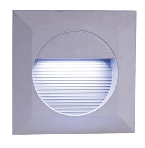 IP44 14 x White LED Grey Aluminium Square Recessed Wall Light