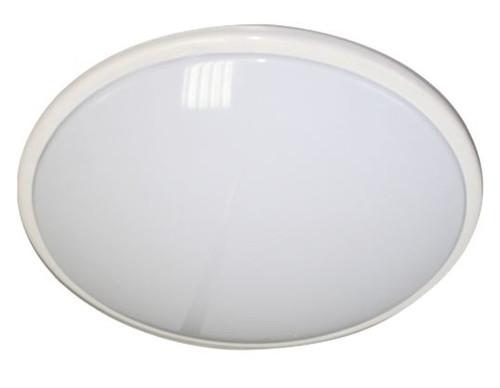 IP20 28W 2D Bulkhead Opal Diffuser & White Base - HF Emergency