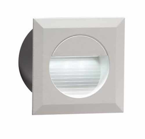 230V IP54 Recessed Square Indoor Outdoor LED Guide Stair Wall Light White LED