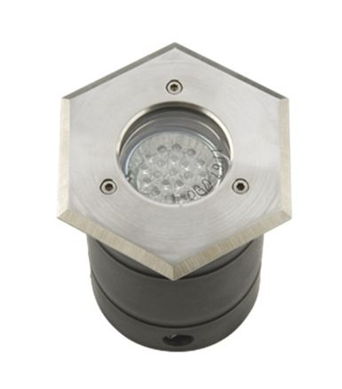 IP67 S-Steel Walkover - Driveover Light Hexagon