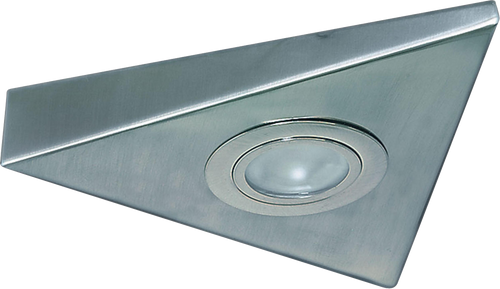 IP20 20W Mini Triangular Under Cabinet Fitting in Brushed Chrome