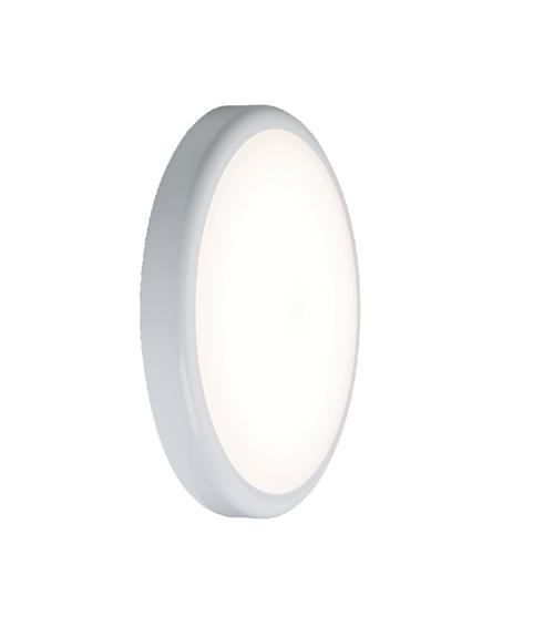 230V IP44 9W Emergency Trade LED Flush 6000K (256mm) (DFL1BT9DEM)