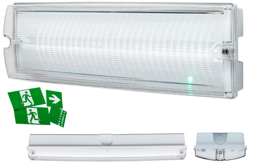 230V IP65 4W LED Emergency Bulkhead