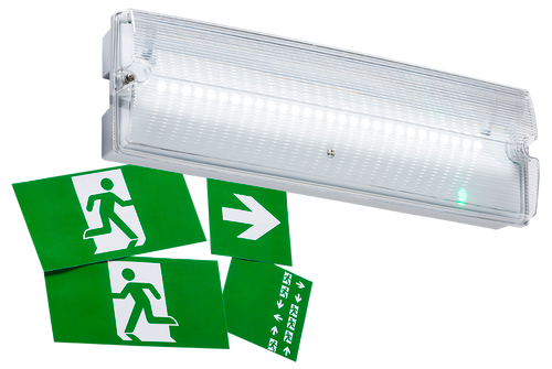 230V IP65 3W LED Emergency Bulkhead