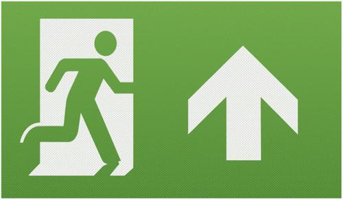 Running Man Legend (kit of 2) with Upward Facing Arrow for EMEXIT /EMLREC/EMLSUS