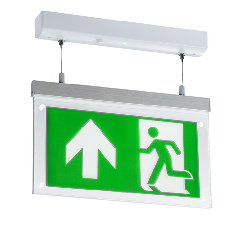 230V 2W LED Suspended Double-Sided Emergency Exit Sign