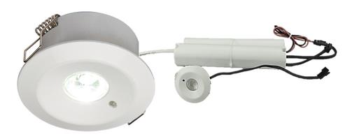 230V IP20 3W LED Emergency Downlight 6000K