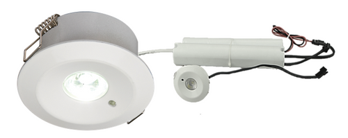 230V IP20 3W LED Emergency Downlight 3000K