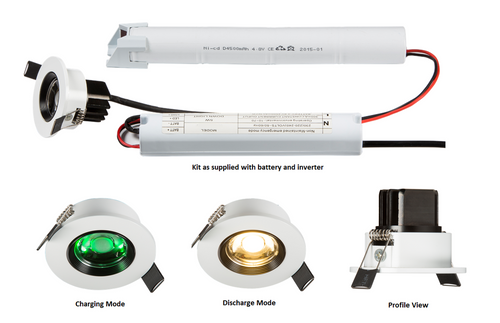 230V IP20 5W LED Emergency Downlight 6000K