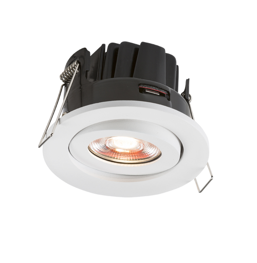 230V IP20 8W Fire-Rated Valknight Tilt LED Downlight 4000K