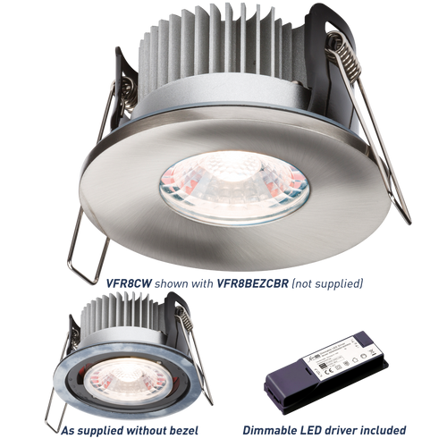 PROKNIGHT LED IP65 8W Fire-Rated Downlight 4000K