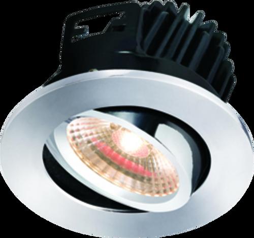 IP20 7W LED 3000K Warm White Tilt Downlight Chrome